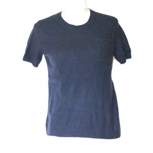 Theory 100% cashmere Short Sleeve Navy Sweater M